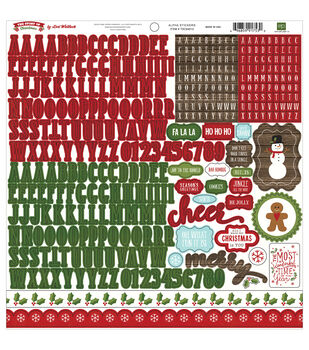 Echo Park Paper Company™ The Story Of Christmas Stickers-Alpha
