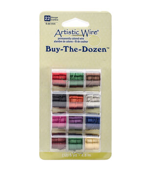 Artistic Wire Buy the Dozen Permanent Colored Wire-12PK/Assorted