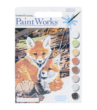 Dimensions® Paint Works Paint By Number Kit-Fox Hole