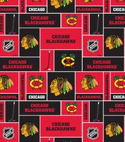Chicago Blackhawks NHL Block Fleece Fabric, , hi-res