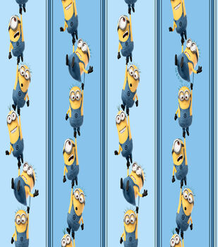 Minions - Blue Stripe Cotton