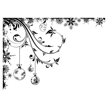 IndigoBlu Cling Mounted Stamp Frosted Baubles