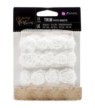 Prima Marketing Memory Hardware Petite Flower Rosette Trim