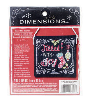Dimensions Filled With Joy Ornament Counted Cross Stitch Kit