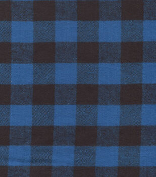 Flannel Shirting Cotton Blue Black