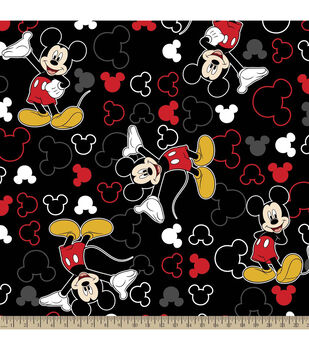 Disney® Mickey and Icons Toss Fleece Fabric