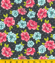 Made In America Cotton Fabric-Main Floral Black, , hi-res