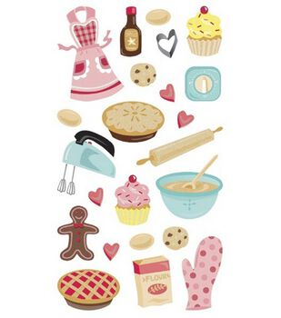 EK Success Sticko Stickers-Baking Glitter