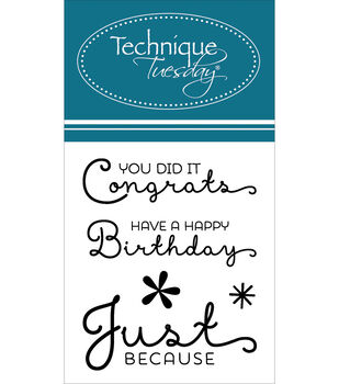 """Technique Tuesday Clear Stamps 2""""X2.5""""-You Did It"""