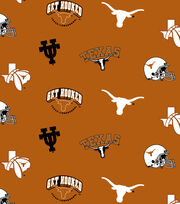 Texas Longhorns NCAA  Fleece Fabric, , hi-res