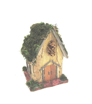Fairy Garden Bark House With Moss