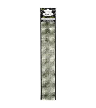 "Gemz Self-Stick 4mm Black Diamond Gems, 2"" x 12"" Sheet"
