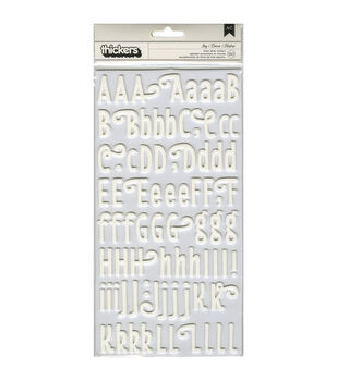 Pebbles Homegrown Ivy/Vanilla Foam Thickers Alpha Stickers