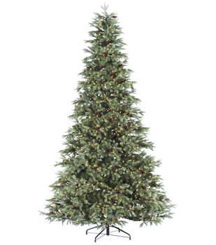 Bloom Room 7' New England Pine Prelit Tree-Green