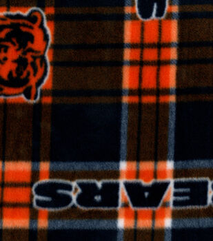 Chicago Bears NFL Plaid Fleece Fabric by Fabric Traditions