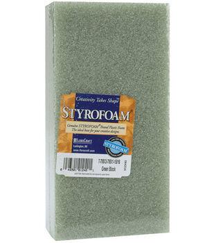 """Styrofoam 7-7/8""""x3-7/8""""x1-15/16"""" Block-1PK/Green"""