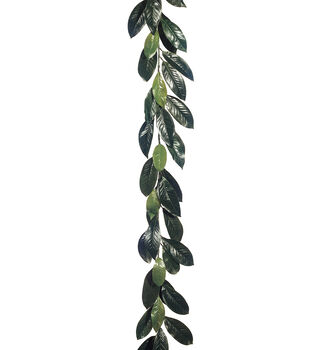 6' Magnolia Leaf Garland with 44 Lvs. Green