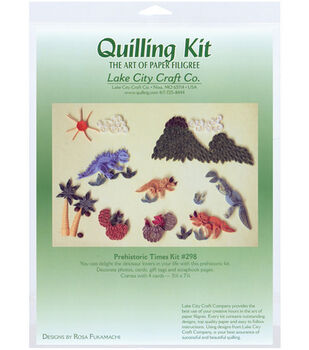 Lake City Crafts Quilling Kit-Prehistoric Times