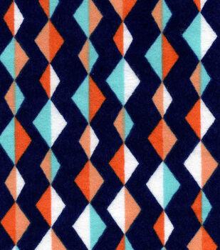 Snuggle Flannel Fabric-Diamond Lines
