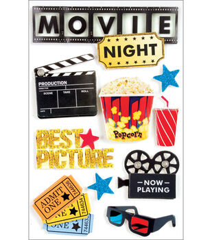 Paper House Movie Night 3-D Stickers-