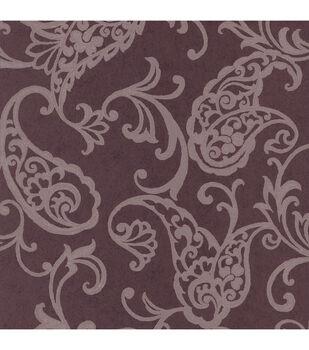 Monireh Brown Fish Paisley  Wallpaper Sample