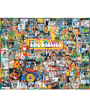 "Ultimate Trivia 24""x30"" 1,000 pc. Puzzle-The Sixties"