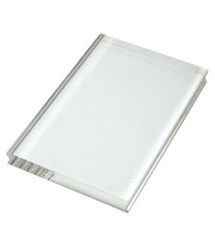 "Perfectly Clear 4""x6"" Stamp Block-Large Rectangle"