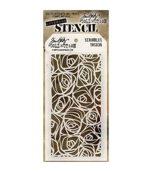 Stampers Anonymous Tim Holtz Layered Scribbles Stencil