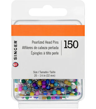 Singer Pearlized Head Straight Pins-Size 20 150/Pkg