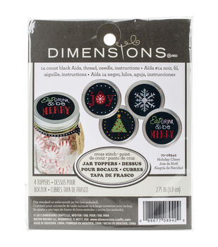 Dimensions® Jar Topper Counted Cross Stitch Kit-Holiday Cheer