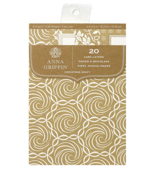 Anna Griffin Cards Layers Kraft