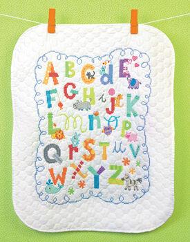 "Alphabet Quilt Stamped Cross Stitch Kit 34""x43"""