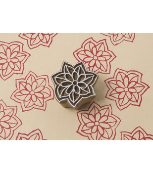 Blockwallah Block Stamp-Star Petals