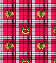 Chicago Blackhawks NHL Plaid Fleece Fabric, , hi-res