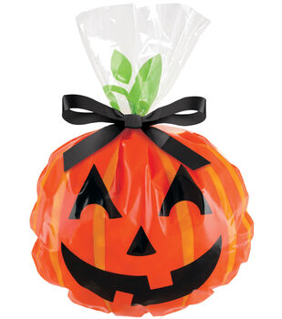Shaped Party Bags-Jack-O-Lantern 12/Pkg 6'x9""