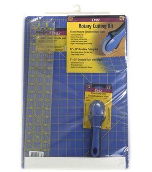 Dritz® Rotary Cutting Kit-Mat, Ruler&Cutter