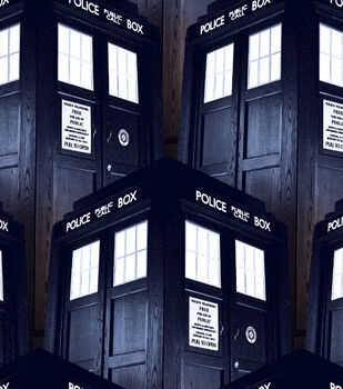 Doctor Who Tardis Cotton Fabric