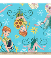 Disney® Frozen Fever Sunflowers Fleece Fabric, , hi-res