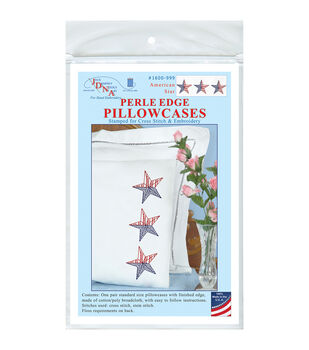 Jack Dempsey Stamped Pillowcases With White Perle Edge-American Star