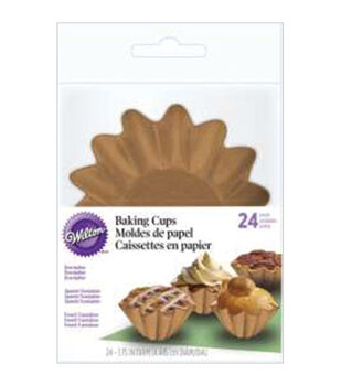 Wilton® Wave Baking Cups-Kraft 24/Pkg