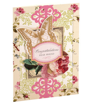 Anna Griffin Card Kit Congrats Garden