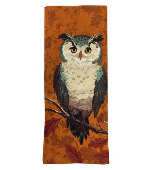Art of Autumn Flour Sack Hand Towel-Owl