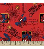 Marvel Spiderman Wall Crawler Flannel Fabric, , hi-res