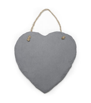 Slate Heart Plaque - 9 x 9 inches