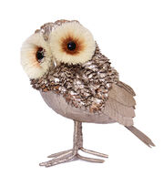 Blooming Holiday Large Pinecone Owl-Champagne, , hi-res