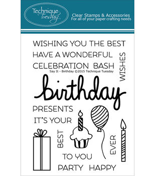 Technique Tuesday Birthday Clear Stamps