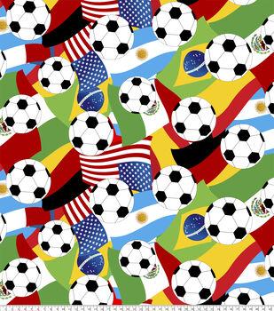 Anti-Pill Fleece Fabric-Soccer Balls
