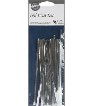"Wilton® Twist Ties 5"" 50/Pkg-Silver"