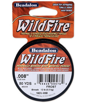"""Wildfire Stringing Wire .008"""" (0.20mm) Dia. 50yds/Spool-Frost"""