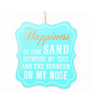 Escape To Paradise Wall Plaque-Happiness